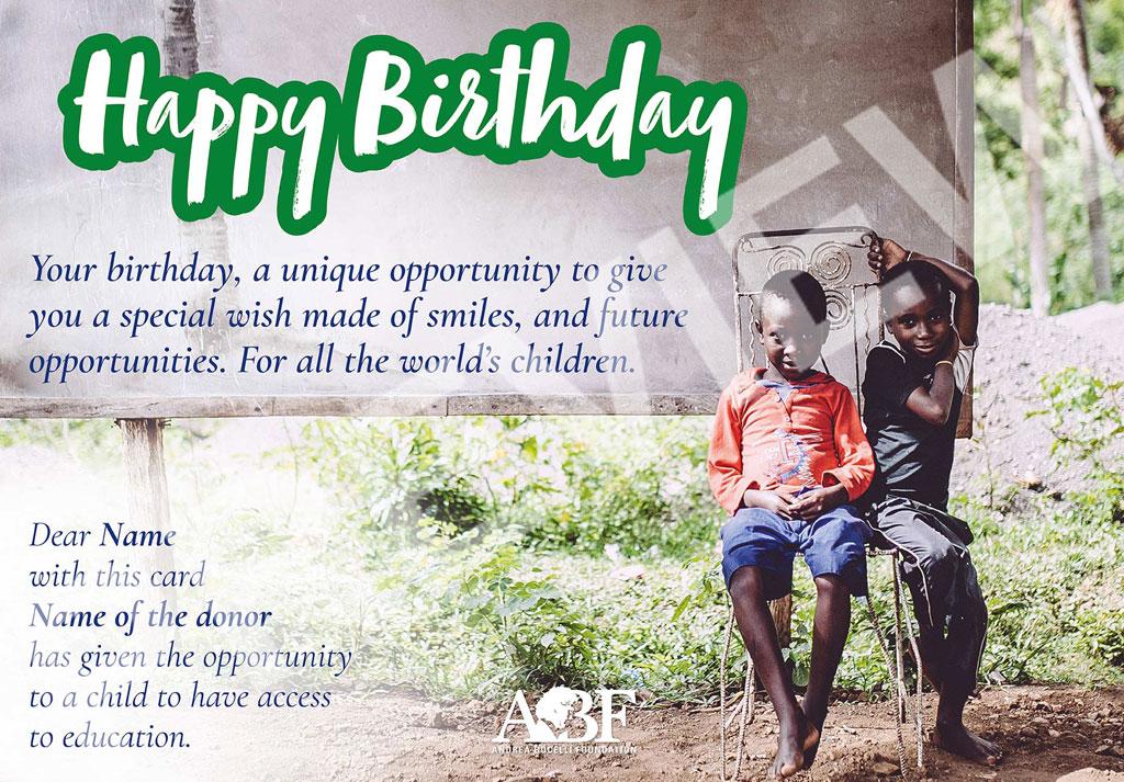 ABF - Happy Birthday e-card